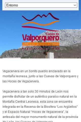 alberguevalporquero.com (móvil) - Página