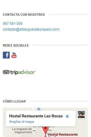alberguevalporquero.com (móvil) - Pie de página