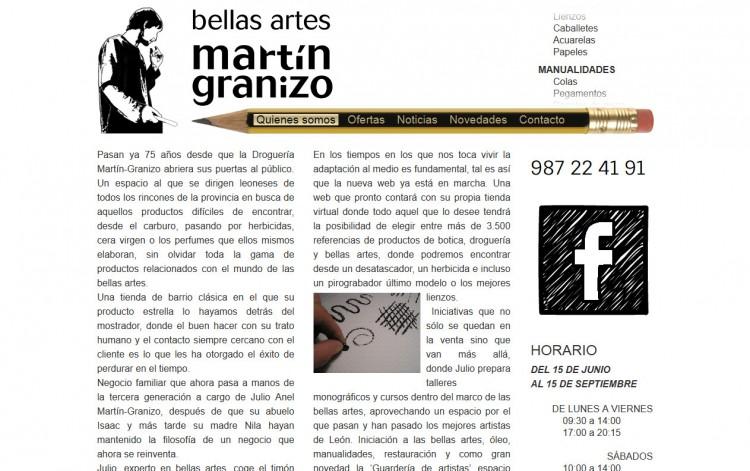 bellasartesmartingranizo.com - Página