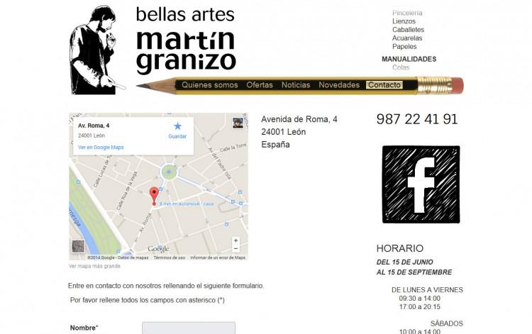 bellasartesmartingranizo.com - Contacto