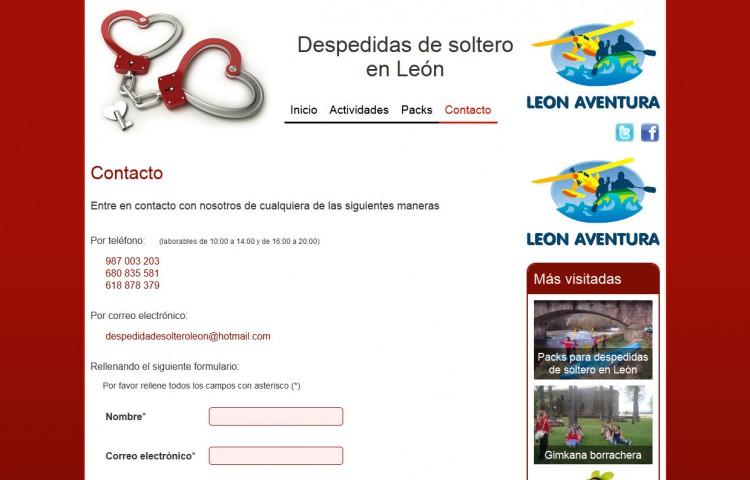despedidaleon.es - Contacto