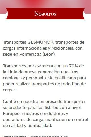 gesmunor.com (móvil) - Contenido