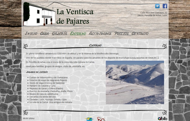 laventiscadepajares.com - Página
