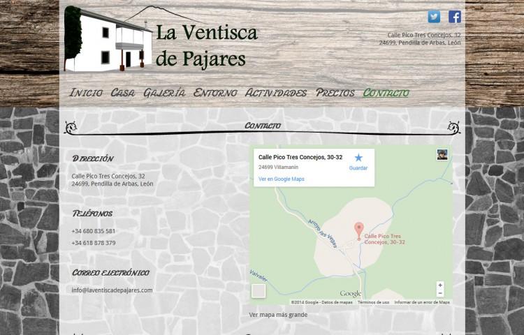 laventiscadepajares.com - Contacto