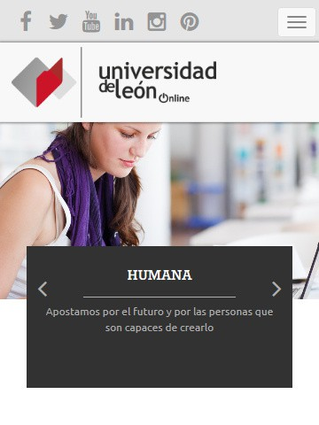 online.unileon.es (móvil) - Portada
