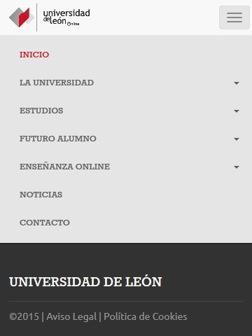 online.unileon.es (móvil) - Menú