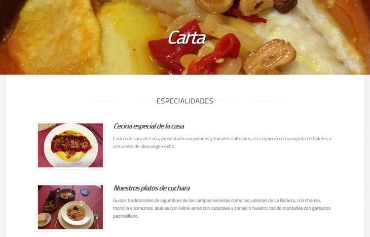 restaurantelasrocasvegacervera.com - Carta