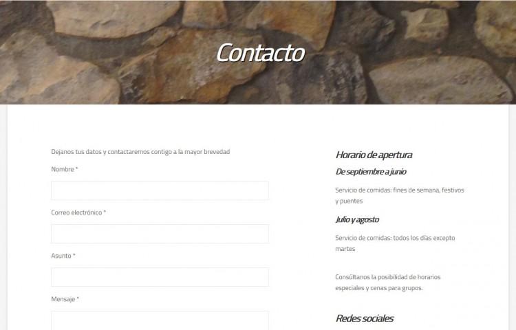 restaurantelasrocasvegacervera.com - Contacto