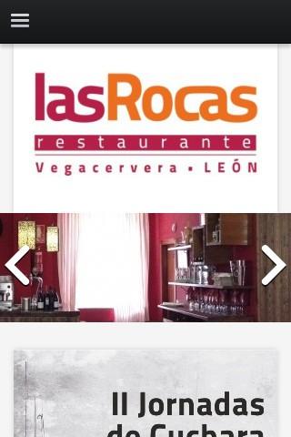 restaurantelasrocasvegacervera.com (móvil) - Inicio