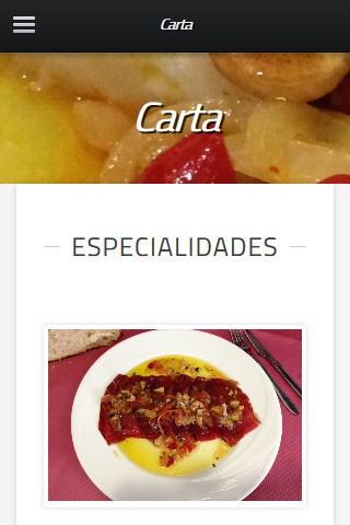 restaurantelasrocasvegacervera.com (móvil) - Carta