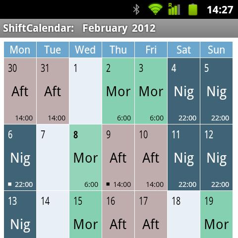 ShiftCalendar - Calendario