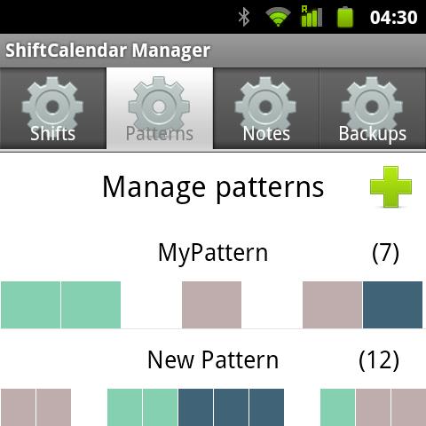 ShiftCalendar - Gestor de patrones