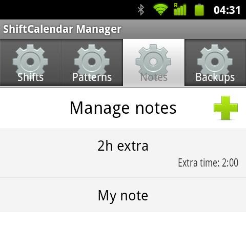 ShiftCalendar - Gestor de notas